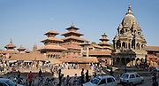 "Patan's Durbar Square, in Nepal, Asia. Patan was probably founded by King Veer Deva in 299 AD from a much older settlement. Patan, officially called Lalitpur, the oldest city in the Kathmandu Valley, is separated from Kathmandu and Bhaktapur by rivers. Patan (population 190,000 in 2006) is the fourth largest city of Nepal, after Kathmandu, Biratnagar and Pokhara. The Newar people, the earliest known natives of the Kathmandu Valley, call Patan by the name ""Yala""  (from King Yalamber) in their Nepal Bhasa language. UNESCO honored Patan's Durbar Square (Palace Square) as one of the seven monument zones of Kathmandu Valley on their World Heritage List in 1979. All sites are protected under Nepal's Monuments Preservation Act of 1956. Panorama stitched from 2 photos."