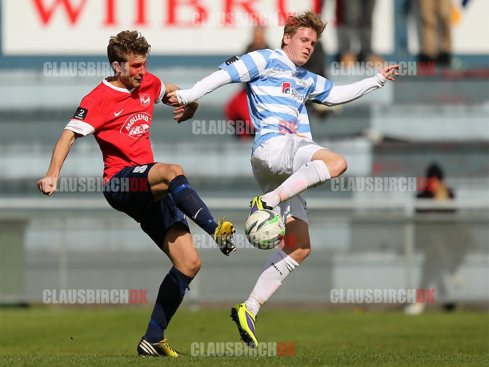 Patrick Kongsted (SC Egedal) og Frederik Frick (FC Helsingør).