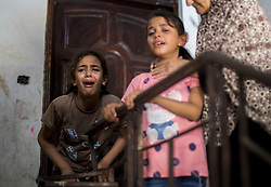July 5, 2018 - Gaza City, The Gaza Strip, Palestine - A relative of Palestinian Mahmoud al-Gharabli, 16, who died of wounds he sustained during a protest at the Israel-Gaza border, mourns during his funeral in Gaza City July 5, 2018. (Credit Image: © Mahmoud Issa/Quds Net News via ZUMA Wire)
