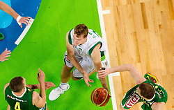 Zoran Dragic of Slovenia during friendly match before Eurobasket Lithuania 2011 between National teams of Slovenia and Lithuania, on August 24, 2011, in Arena Stozice, Ljubljana, Slovenia. (Photo by Vid Ponikvar / Sportida)