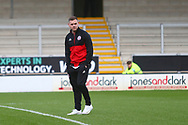 Accrington Stanley forward Billy Kee (29) arrives at his former club Burton Albion during the EFL Sky Bet League 1 match between Burton Albion and Accrington Stanley at the Pirelli Stadium, Burton upon Trent, England on 23 March 2019.