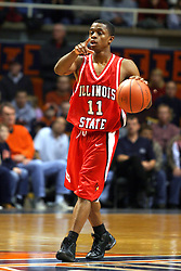 02 January 2004  Vince Greene lines up his offense. Illinois State University ties up The Fightin Illini in regulation but fails to top the Big 10 team in overtime. Action took place at the Assembly Hall on the University of Illinois Campus in Champaign - Urbana Illinois.