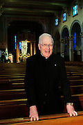 Father Edward P. Salmon is Pastor Emeritus at St. Giles Catholic Parish in Oak Park, Il. May 17th, 2014 l Brian J. Morowczynski-ViaPhotos<br /> <br /> For use in a single edition of Catholic New World Publications, Archdiocese of Chicago. Further use and/or distribution may be negotiated separately. <br /> <br /> Contact ViaPhotos at 708-602-0449 or email brian@viaphotos.com.