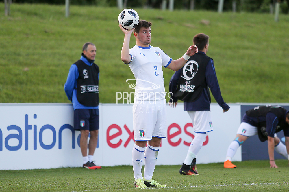 Alberto Barazzetta of Italy (2) during the UEFA European Under 17 Championship 2018 match between Israel and Italy at St George's Park National Football Centre, Burton-Upon-Trent, United Kingdom on 10 May 2018. Picture by Mick Haynes.