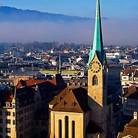 Zurich Switzerland Fraumunster Zurich Switzerland