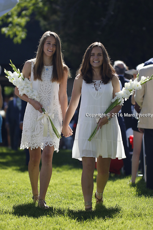 SHOT 6/2/16 8:36:54 AM - Colorado Academy Class of 2016 Commencement ceremonies at the Denver, Co. private school. The school graduated 88 seniors this year and the event capped a week filled with awards, tributes, and celebrations for the outgoing senior class. (Photo by Marc Piscotty / © 2016)