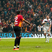 Galatasaray's Tebily Didier Yves Drogba (C) during their Turkish Super League soccer match Galatasaray between Genclerbirligi at the TT Arena at Seyrantepe in Istanbul Turkey on Friday, 08 March 2013. Photo by Aykut AKICI/TURKPIX