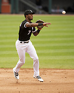 CHICAGO - MAY 01:  Tim Anderson #1 of the Chicago White Sox fields against the Baltimore Orioles on May 1, 2019 at Guaranteed Rate Field in Chicago, Illinois.  (Photo by Ron Vesely)  Subject:   Tim Anderson