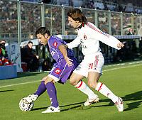 Firenze 20-11-2005<br />Campionato  Serie A Tim 2005-2006<br />Fiorentina Milan<br />nella  foto Stefano Fiore Fiorentina (L), Andrea Pirlo Milan (R)<br />Foto Snapshot / Graffiti