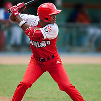 15 February 2009: Second base Hector Olivera of the Orientales is seen at bat during a training game of Cuba Baseball Team for the World Baseball Classic 2009. The national team is pitted against itself, divided in two teams called the Occidentales and the Orientales. The Orientales win 12-8, at the Latinoamericano stadium, in la Habana, Cuba.