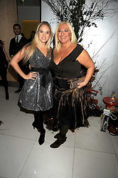 VANESSA FELTZ and her daughter at a reception before the launch of the English National Ballet Christmas season launch of The Nutcracker held at the St,Martins Lane Hotel, London on 5th December 2008.