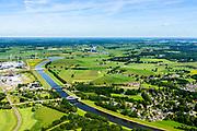 Nederland, Gelderland, Gemeente Zutphen, 17-07-2017; Twenthekanaal (Zutphen-Enschede) ter hoogte van Eefde, gezien naar monding in de IJssel.<br /> Twenthe Canal (Zutphen-Enschede) with river IJssel.<br /> <br /> luchtfoto (toeslag op standard tarieven);<br /> aerial photo (additional fee required);<br /> copyright foto/photo Siebe Swart