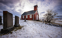 ICELAND - CIRCA MARCH 2015: Church in West  Iceland.