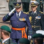 NLD/Den Haag/20180831 - Koninklijke Willems orde voor vlieger Roy de Ruiter, Inspectie van de troepen door  Koning Willem - Alexnader,