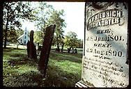 Gravestones of the German immigrants who settled the Missouri Rhineland; October, Femme Osage. Missouri
