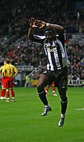 Photo: Andrew Unwin.<br />Newcastle United v Watford. The Barclays Premiership. 16/12/2006.<br />Newcastle's Obafemi Martins celebrates his goal.