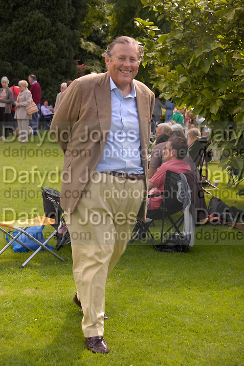 David Ker. Pug Dog club Tea party held at Cottesbrook Hall.  ( home of  Mr. and Mrs. Alastair Macdonald-Buchanan ) 26 June 2005. . ONE TIME USE ONLY - DO NOT ARCHIVE  © Copyright Photograph by Dafydd Jones 66 Stockwell Park Rd. London SW9 0DA Tel 020 7733 0108 www.dafjones.com