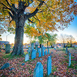 North Cemetery in Portsmouth, New Hampshire. HDR.