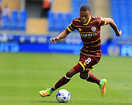 Jordan Cousins of Queens Park Rangers in action.EFL Skybet championship match, Cardiff city v Queens Park Rangers at the Cardiff city stadium in Cardiff, South Wales on Sunday 14th August 2016.<br /> pic by Andrew Orchard, Andrew Orchard sports photography.