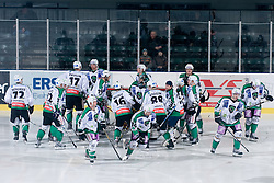 Team HDD Tilia Olimpija during ice-hockey match between HDD Tilia Olimpija and EHC Liwest Black Wings Linz in 37th Round of EBEL league, on Januar 9, 2011 at Hala Tivoli, Ljubljana, Slovenia. (Photo By Matic Klansek Velej / Sportida.com)
