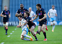 Rugby Union - 2021 Guinness Pro14 Rainbow Cup - Northern Group - Edinburgh vs Glasgow Warriors - Murrayfield<br /> <br /> George Horne of Glasgow Warriors is tackled by Henry Pyrgos of Edinburgh Rugby<br /> <br /> Credit : COLORSPORT/BRUCE WHITE