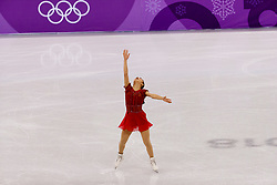 February 12, 2018 - Gangneung, South Korea - Kaori Sakamoto of Japan compete during the Team Event Ladies Single Skating FS at the PyeongChang 2018 Winter Olympic Games at Gangneung Ice Arena on Monday February 12, 2018. (Credit Image: © Paul Kitagaki Jr. via ZUMA Wire)