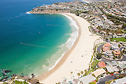 Aerial Stock Photo of Emerald Bay in Laguna Beach California