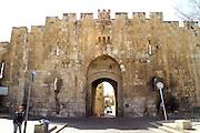 Lions gate, AKA St. Stephen's Gate and Bab El Isbat and Bab Sitna Mariam Jerusalem old city walls