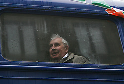 © under license to London News Pictures.  13/03/11 A man watches the festivities from a parade bus during St Patrick's Day celebrations in central London. Photo credit should read: Olivia Harris/ London News Pictures