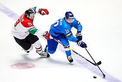 Istvan Bartalis of Hungary and Nikita Mikhailis of Kazakhstan during ice hockey match between Kazakhstan and Hungary at IIHF World Championship DIV. I Group A Kazakhstan 2019, on May 5, 2019 in Barys Arena, Nur-Sultan, Kazakhstan. Photo by Matic Klansek Velej / Sportida