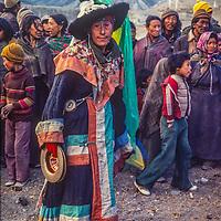 Tibetan Buddhist festival in Braga village, north of Annapurna in Nepal.