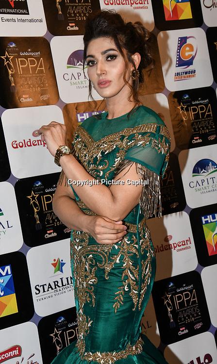 Sana Fakhar is a Pakistani actress arrives at the Annual International Pakistan Prestige Awards (IPPA) at Indigo at The O2 on 9th September 2018, London, UK.