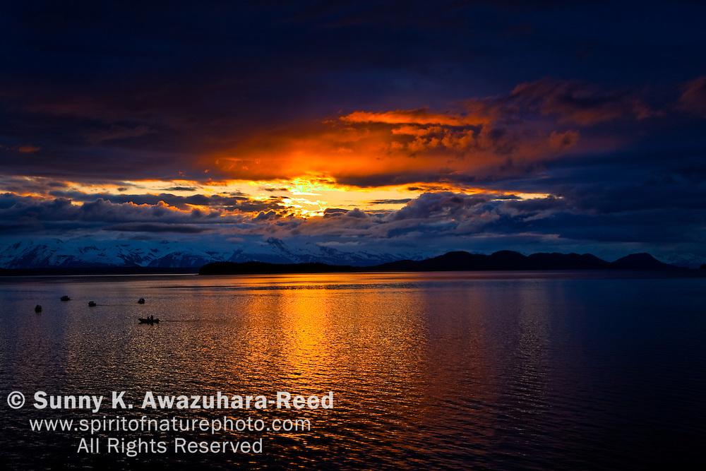 Sunset, Auke Bay, Gastineau Channel, Juneau, Alaska