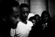 Migranti ospiti del centro d'accoglienza Baobab, protestano in piazza del Campidoglio, Roma 11 ottobre 2016. Christian Mantuano / OneShot<br /> <br /> <br /> Migrants and refugees demonstration in Piazza del Campidoglio in central Rome on October 11, 2016. Christian Mantuano / OneShot