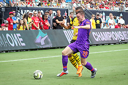 July 22, 2018 - Charlotte, North Carolina, USA - Liverpool defender Andrew Robertson (26) during an International Champions Cup match at Bank of America Stadium in Charlotte, NC.  Borussia Dortmund of the German Bundesliga beat Liverpool of the English Premier League 3 to 1. (Credit Image: © Jason Walle via ZUMA Wire)