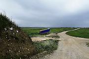 L'area di campagna dove sarebbero stati 'tombati' tonnellate di rifiuti della Camorra, nella zona limitrofe a Ordona in provincia di Foggia, Ordona 29 Aprile 2014.  Christian Mantuano / OneShot