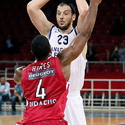 Anadolu Efes's Ermal KURTOGLU during their Two Nations Cup basketball match Anadolu Efes between Olympiacos at Abdi Ipekci Arena in Istanbul Turkey on Sunday 02 October 2011. Photo by TURKPIX