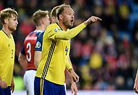 Fotball , 26. mars 2019 , EM-kvalifisering , Euro Qual.<br /> Norge - Sverige<br /> Norway - Sweden<br /> Andreas Granqvist , Sverige