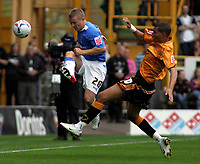 Photo: Paul Thomas.<br /> Wolverhampton Wanderers v Birmingham City. Coca Cola Championship. 22/04/2007.<br /> <br /> Gary McSheffrey (L) of Birmingham is tackled by Jay Bothroyd.