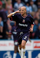 Photo. Jed Wee, Digitalsport<br /> NORWAY ONLY<br /> <br /> Huddersfield Town v Lincoln City, Nationwide League Division Three Playoff Semi-finals Second Leg, 19/05/2004.<br /> Lincoln's Mark Bailey celebrates after scoring.