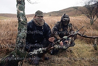 British SAS soldiers seen on training exercises in the Brecon Beacons, Wales in 1970. Note the L1A1 SLR and M16 assault rifle. Photographed by Terry Fincher