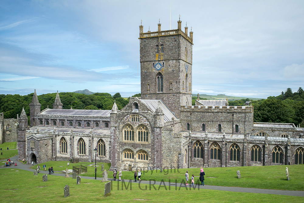 St David's Cathedral founded as 6th Century monastery, St David's Pembrokeshire, West Wales.