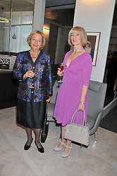 Left to right, GISELA BERG CBE, Veuve Clicquot Business Woman Award winner 1982 and MICHELLE McDOWELL, winner of the 2011 Veuve Clicquot Business Woman Award attending the Veuve Clicquot Business Woman Previous Winners Dinner held at Grace, 11c West Halkin Street, London on 16th April 2013.