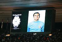Fotball<br /> EM-kvalifisering<br /> 06.09.2006<br /> Frankrike v Italia <br /> Foto: Dppi/Digitalsport<br /> NORWAY ONLY<br /> <br /> HOMMAGE FOR FACCHETTI 'S DEATH ON THE STADE DE FRANCE'S SCREEN