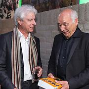 NLD/Hilversum/20181008 - Boekpresentatie autobiografie Peter Koelewijn, Boudewijn de Groot en Peter Koelewijn