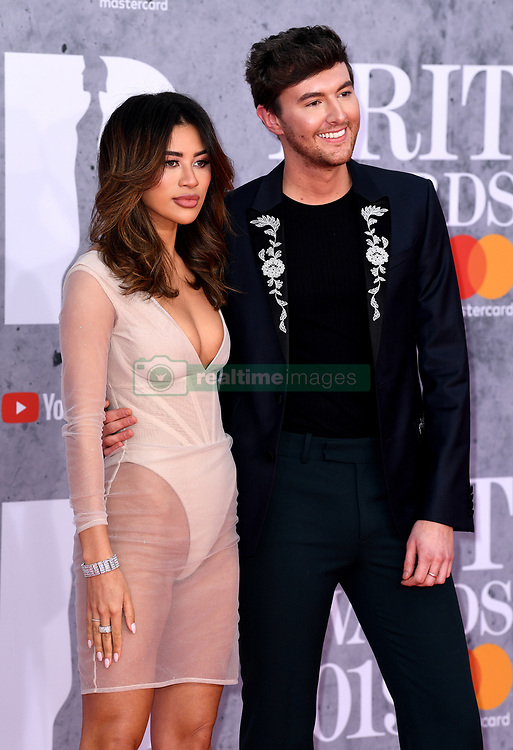 Montana Brown and Mark Ferris attending the Brit Awards 2019 at the O2 Arena, London. Photo credit should read: Doug Peters/EMPICS Entertainment. EDITORIAL USE ONLY