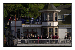 Yachting- The start of the Bell Lawrie Scottish series 2002 at Gourock racing overnight to Tarbert Loch Fyne where racing continues over the weekend.<br />The race commitee at Royal Gourock Yacht Club<br /><br />Pics Marc Turner / PFM