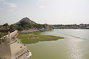 India, Rajasthan, Pushkar, The holy Brahman lake