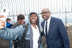 April 27, 2018 - New York, NY, USA - Actor Forest Whitaker greets fans after he lights the Empire State Building in honor of the Education Above All Foundation on April 27, 2018 in New York. (Credit Image: © Bryan Smith via ZUMA Wire)