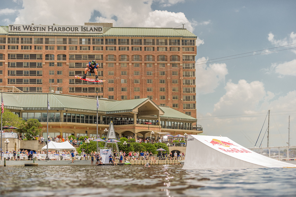 Bob Soven competes in the park competition during the Red Bull Wake Open in Tampa, Florida, USA on 6 July 2013.